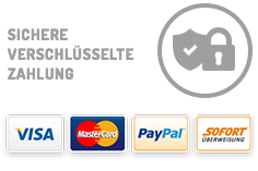 Visa, MasterCard, PayPal, Vorauskasse